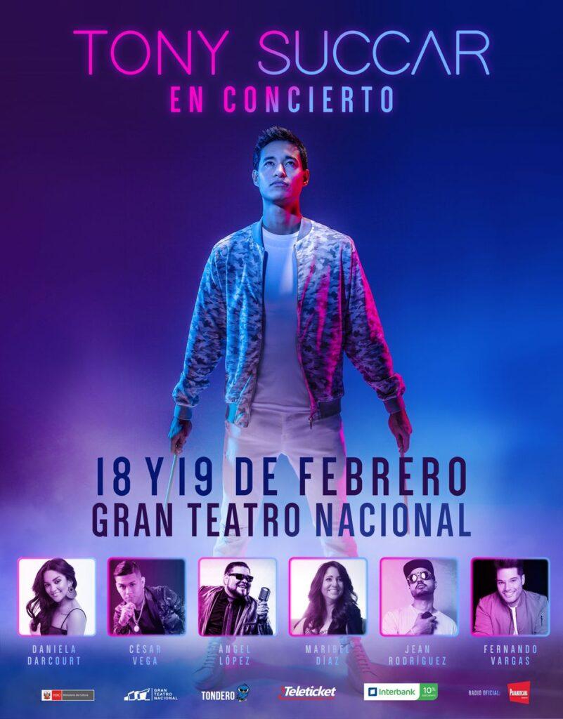Daniela Darcourt y César Vega entre los artistas invitados al los conciertos de Tony Succar en Gran Teatro Nacional de Lima / Foto: Tondero