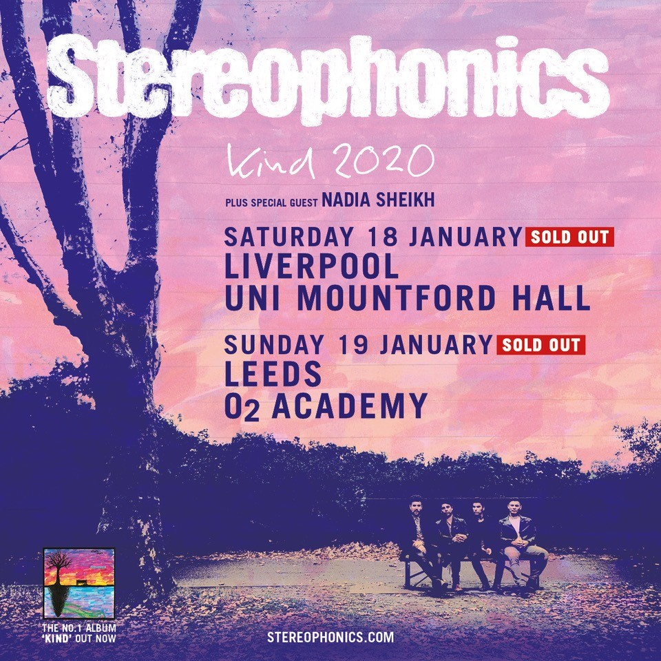 Stereophonics UK Tour Artwork