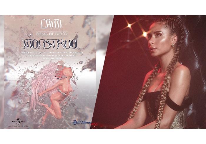 Cami y su álbum Monstruo / Foto: @cami @monttpablo @dmnc - Instagram