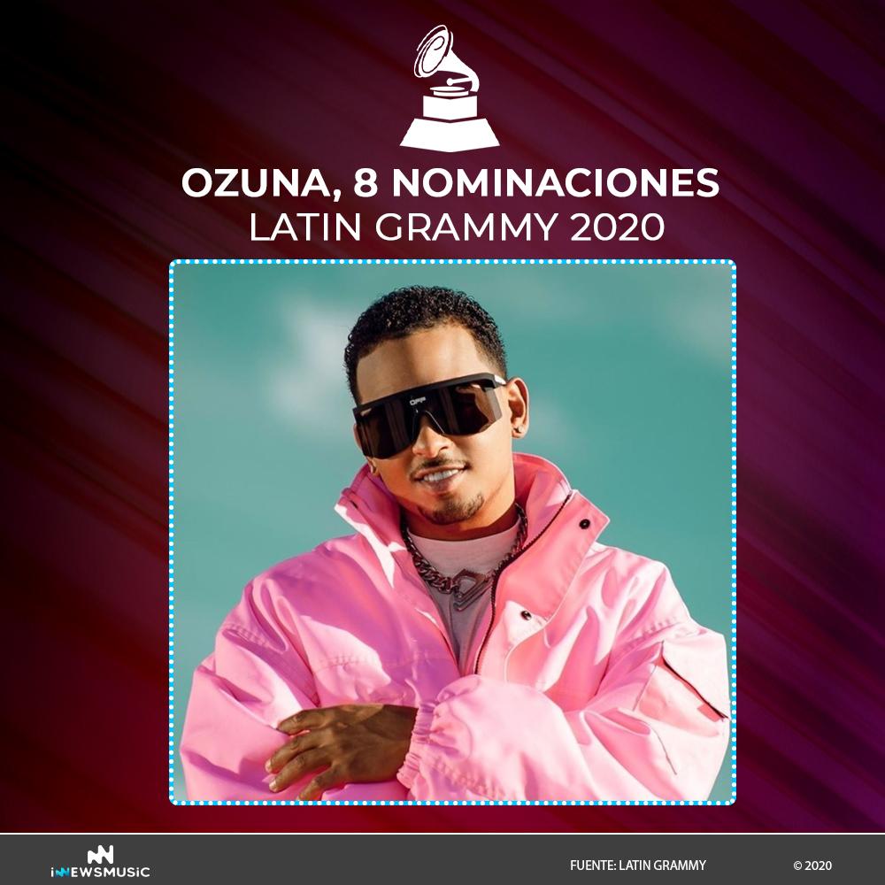 Ozuna recibe 8 nominaciones en los Latin Gammys 2020