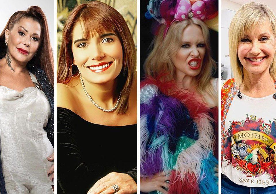 Alejandra Guzmán (@laguzmanmx), Tania Libertad (@tanialibertad01), Kylie Minogue (@kylieminogue) y Olivia Newton-john (@therealonj) / Fotos: Instagram