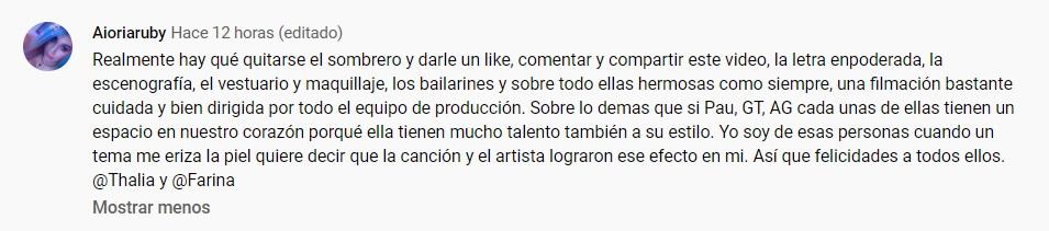 comentario 1 youtube