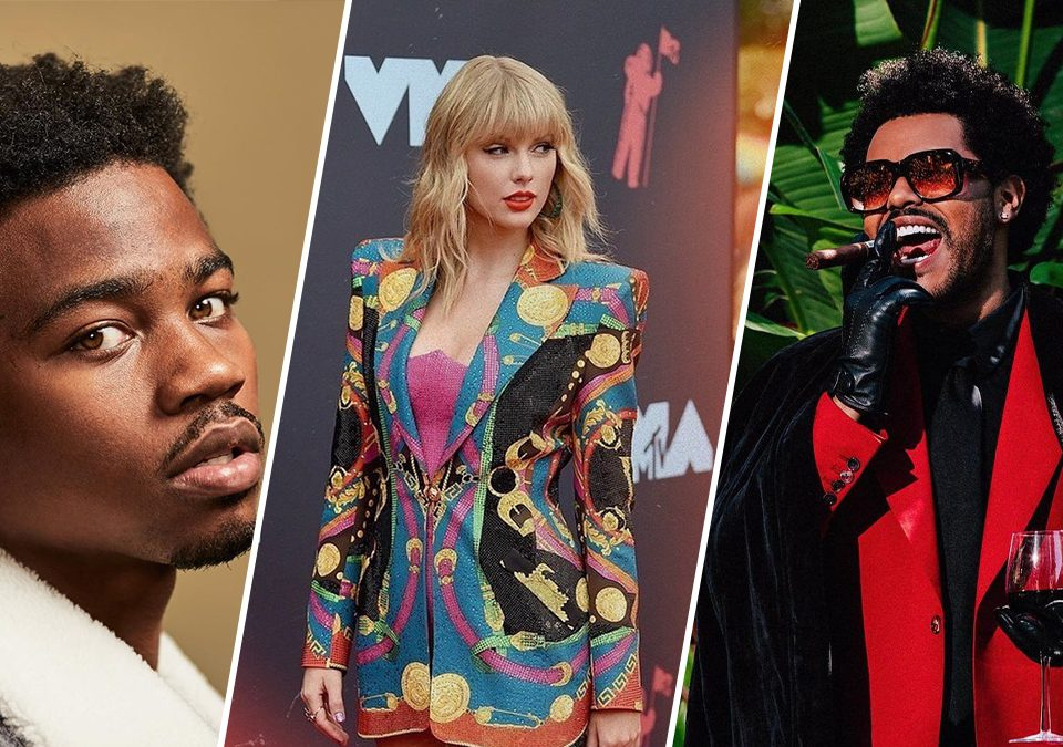 Nominados a los premios American Music Awards 2020 / Foto: @roddyricch, @taylorswift, @theweeknd