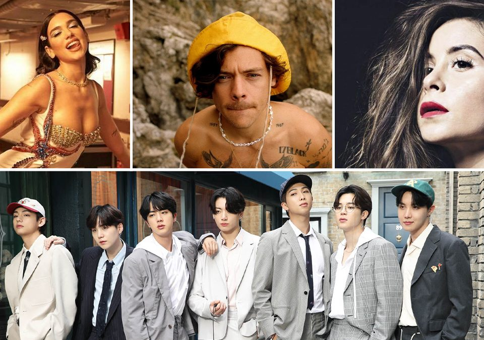 Nominados Grammy Awards 2020, Dua Lipa Harry Styles, Cami Gallardo, BTS
