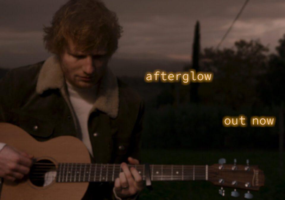 "Ed Sheeran presenta ""afterglow"""