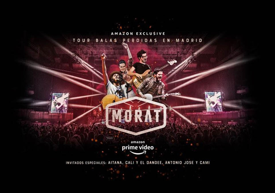 Amazon Prime Video presenta por primera vez en streaming a Morat en concierto