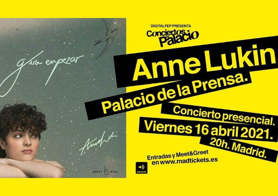 Conciertos de Palacio inicia con la presentación de Anne Lukin