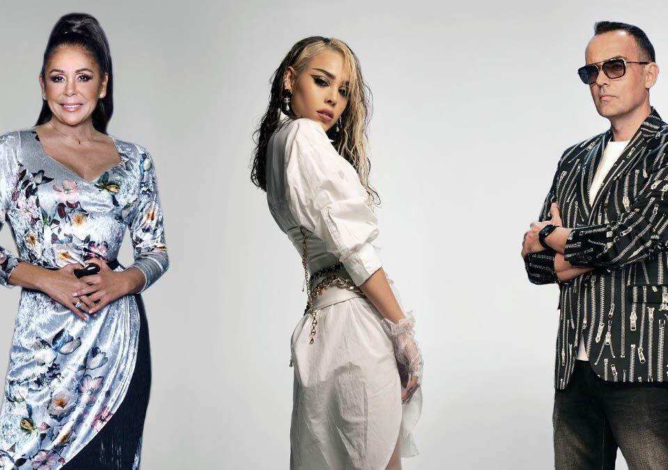 Danna Paola, Isabel Pantoja y Risto Mejido / Foto: Universal Music Group