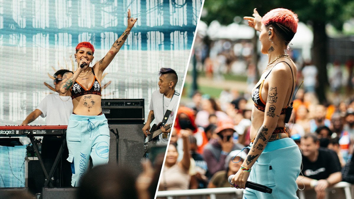 Cazzu en Festival Made in America / Foto: CZ Comunicación